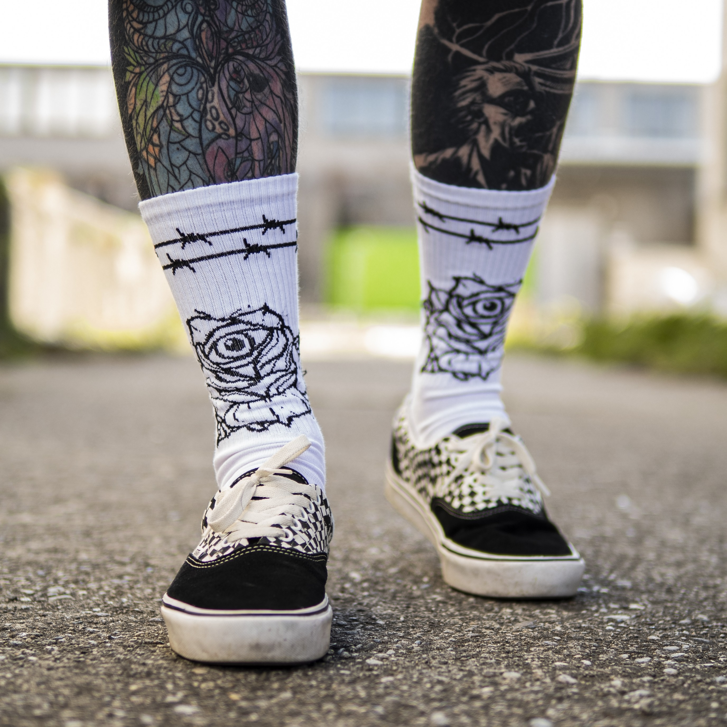 SOCKS DEADBLOOM EYE 2-PACK  (Black&White)