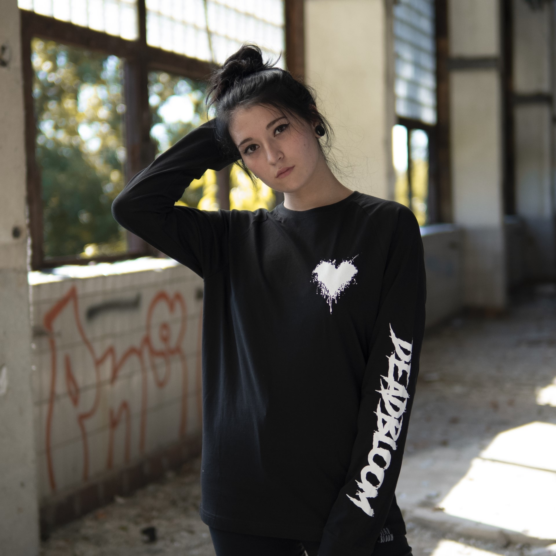LONG SLEEVE BLACK ( DEADBLOOM X ALBI TATTOO )