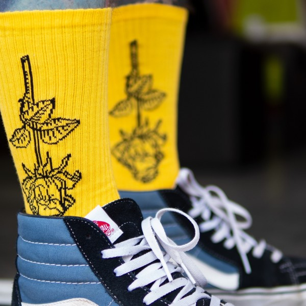 DEADBLOOM SOCKS YELLOW